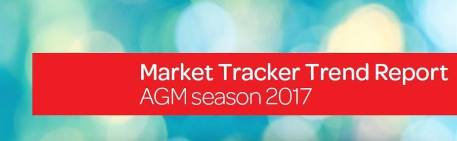 Market Tracker Trend Report – AGM season 2017