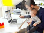 man-working-from-home-with-child
