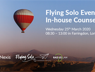 Don't miss our next Flying Solo event on 25th March 2020