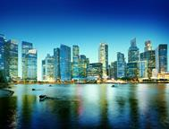 Cityscape-Singapore-Panoramic-Night-Concept