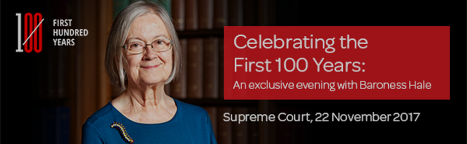 An exclusive evening with Baroness Hale