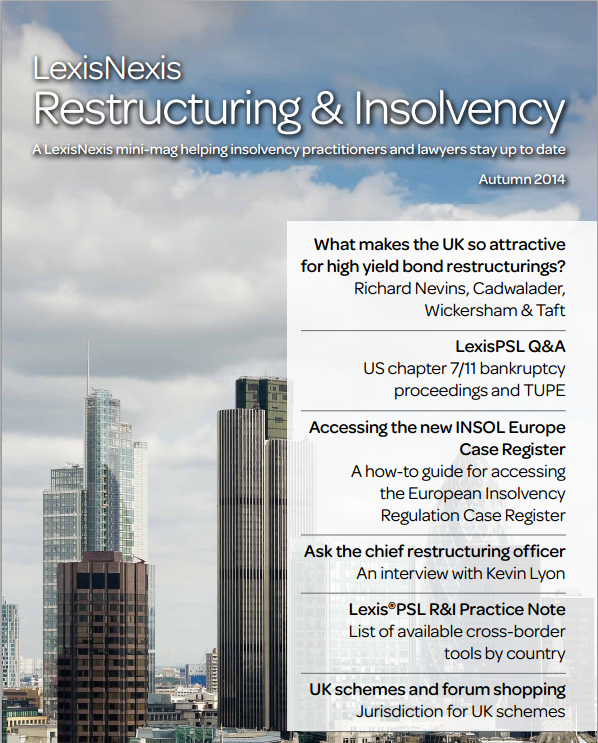 Restructuring and Insolvency mini mag autumn 2014