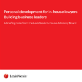 Personal development for in-house lawyers – building business leaders