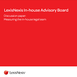 Discussion paper: Measuring the in-house legal team