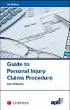 APIL Guide to Personal Injury Claims Procedure 2nd edition cover
