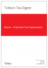 Tax Digest Brexit Issue March 2020 cover