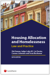 Housing Allocation and Homelessness Law & Practice Sixth edition (with CD-ROM) cover