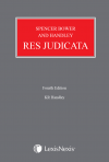 Spencer Bower and Handley: Res Judicata Fourth edition cover