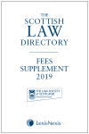 The Scottish Law Directory: The White Book: Fees Supplement 2019 cover