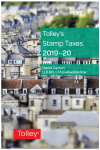 Tolley's Stamp Taxes 2019-20 cover