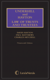 Underhill and Hayton Law of Trusts and Trustees, 19th edition, Mainwork and Supplement set (Print and eBook) cover