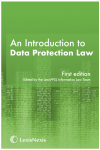 An Introduction to Data Protection Law cover