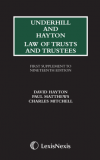 Underhill and Hayton Law of Trusts and Trustees First Supplement to the 19th edition cover