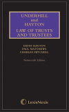 Underhill and Hayton Law of Trusts and Trustees 19th edition Mainwork and Supplement Set cover