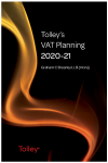 Tolley's VAT Planning 2020-21 (Part of the Tolley's Tax Planning Series) cover