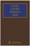 Civil Court Service 2020 (The Brown Book) (Hardcopy and CD) cover