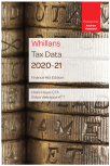 Whillans Tax Data 2020-21 (Finance Act edition) cover