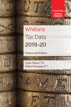 Whillans Tax Data 2019-20 (Finance Act edition) cover