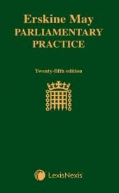 Erskine May: Parliamentary Practice 25th edition cover