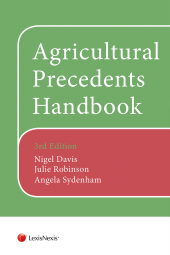 Agricultural Precedents Handbook 3rd edition and CD-ROM cover