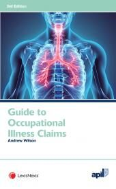 APIL Guide to Occupational Illness Claims Third edition cover