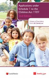 Applications under Schedule 1 to the Children Act 1989 2nd edition cover