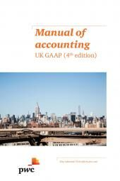 Manual of Accounting: UK GAAP Fourth edition cover