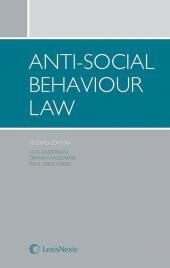 Anti-social Behaviour Law 2nd edition cover