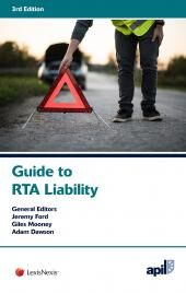 APIL Guide to RTA Liability Third edition cover