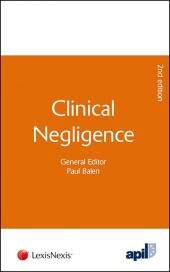 APIL Clinical Negligence Second edition cover