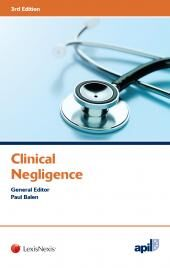 APIL Clinical Negligence Third edition cover