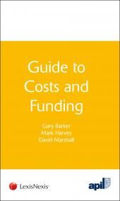 APIL Guide to Costs and Funding cover