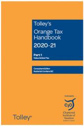 Tolley's Orange Tax Handbook 2020-21 cover