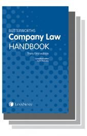 Butterworths Company Law Handbook 31st edition & Tolley's Company Secretary's Handbook 27th edition Set cover