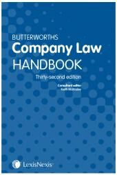 Butterworths Company Law Handbook 32nd edition cover