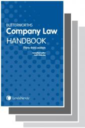 Butterworths Company Law Handbook 33rd edition & Tolley's Company Law Handbook Handbook 27th edition cover