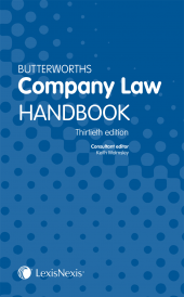 Butterworths Company Law Handbook 30th Edition cover