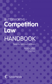 Butterworths Competition Law Handbook 22ed (eBook and Print) cover