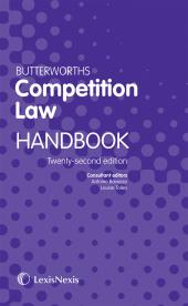 Butterworths Competition Law Handbook 22ed eBook cover