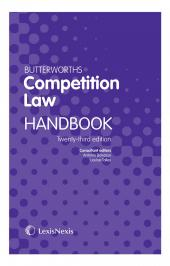 Butterworths Competition Law Handbook 23rd edition cover