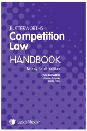Butterworths Competition Law Handbook 24th edition cover