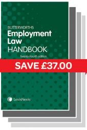 Butterworths Employment Law Handbook 24ed and Tolley's Employment Handbook 30ed eBook cover