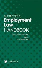Butterworths Employment Law Handbook 24ed (Print and eBook) cover