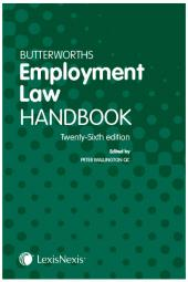 Butterworths Employment Law Handbook 26th edition cover