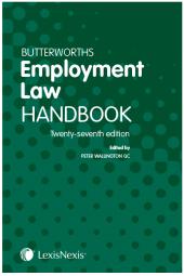 Butterworths Employment Law Handbook 27th edition cover