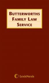 Butterworths Family Law Service cover