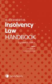 Butterworths Insolvency Law Handbook 18ed (Print and eBook) cover
