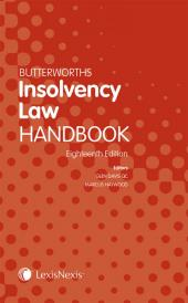 Butterworths Insolvency Law Handbook 18th edition cover