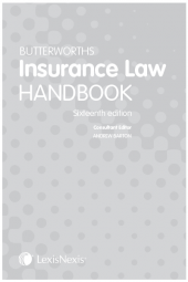 Butterworths Insurance Law Handbook 16th edition cover