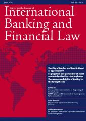 Butterworths Journal of International Banking and Financial Law cover